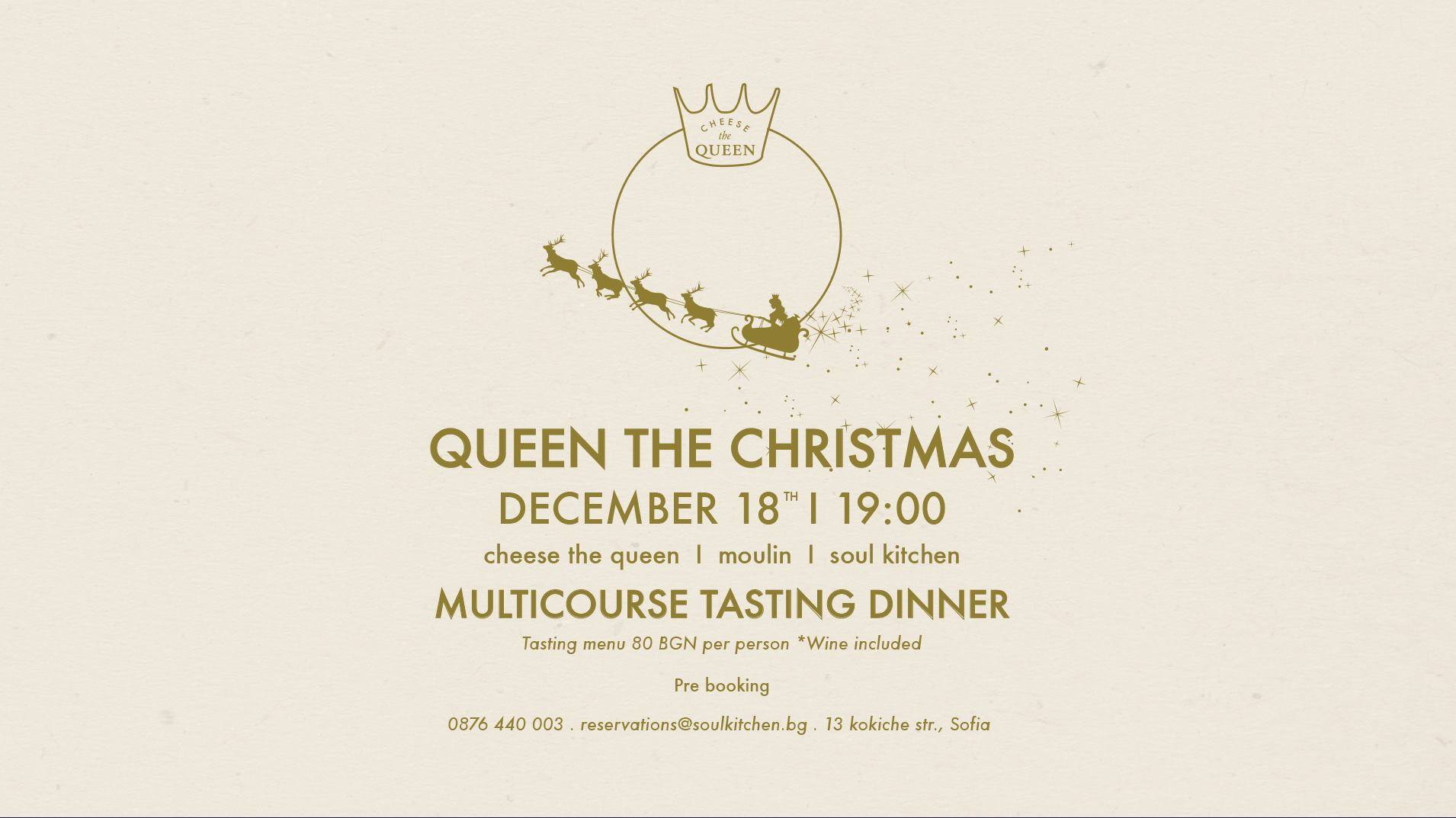 Queen the Christmas multicourse tasting dinner